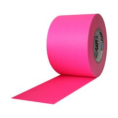 "Pro Gaff Matte Cloth Tape (4"" x 50 yd) - Fluorescent Pink"
