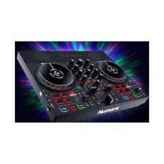 Party Mix Live DJ Controller with Built-In Light Show and Speakers