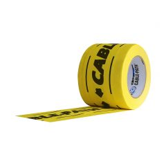 """Cable Path Zone Coated Gaffers Tape (6"""" x 30 yd) - Yellow Printed Black"""