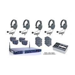 DX210 System 2-Channel 2.4 GHz Base Station for 4-Up with HS15 Headsets