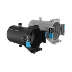 Ovation Ellipsoidal HD Lens Tube (IP-Rated) - 50-Degrees, Black